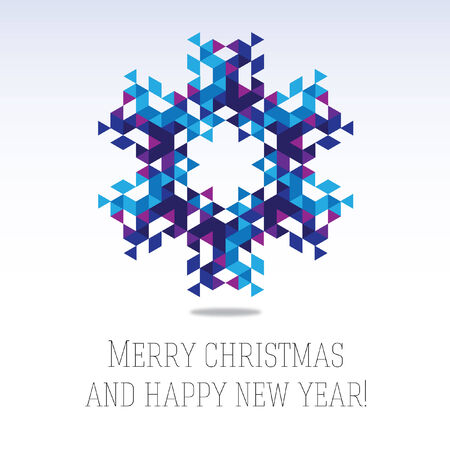 Business greeting christmas and New year card.  Stock Illustratie