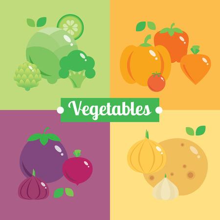 eating habits: Vector modern illustration, stylish design element