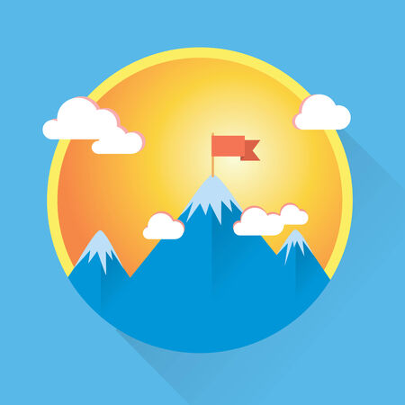 Modern round icon and illustration in flat style Vector