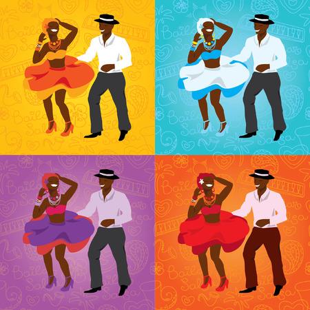 caribbean party: Ilustraci�n vectorial y elemento de dise�o