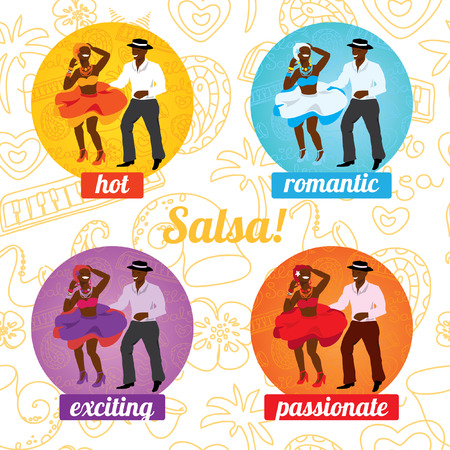 salsa dancer: Vector illustration and design element