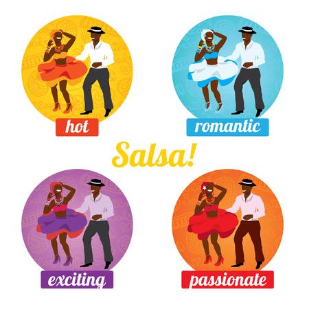salsa dancer: Vector illustration and design element