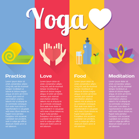 yoga icon: Yoga concept flat vertical illustrations set. Isolated and modern vector design element