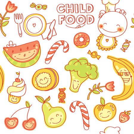 어린이 이유식, 원활한 다채로운 과일, 야채, 과자, 미소 쿠키 세트