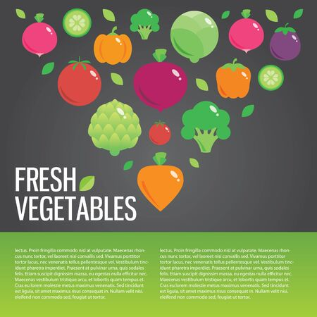 eating habits: Healthy fresh organic food vector background with place for text Stock Photo