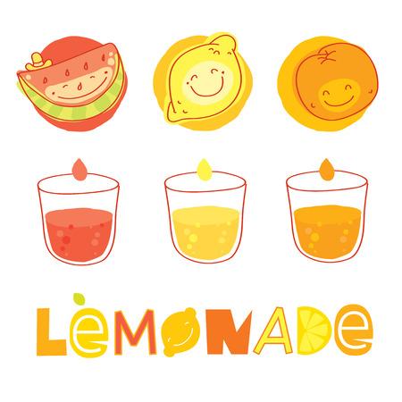 natural juices: Vector modern illustration, stylish design element