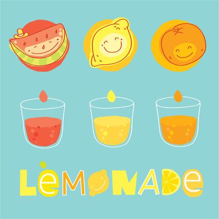 orange juice glass: Vector modern illustration, stylish design element