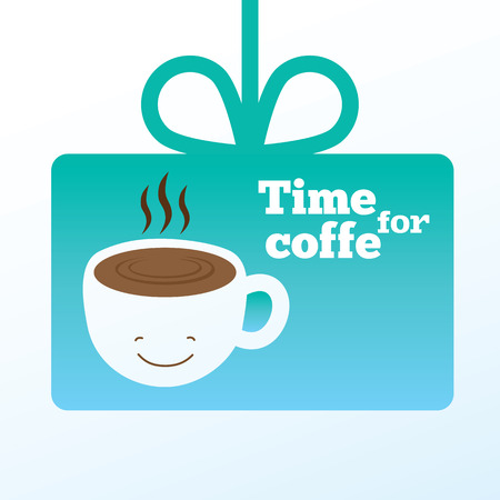 drinking coffee: Detailed stylish modern flat vector illustration and design element.