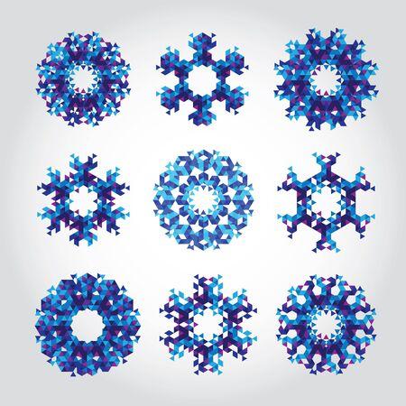 copo de nieve: Copo de triángulo abstracta. Invierno Foto de archivo