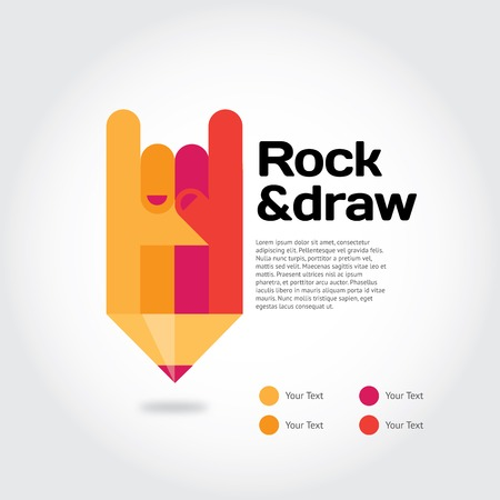 red pencil: Modern vector illustration and stylish design element
