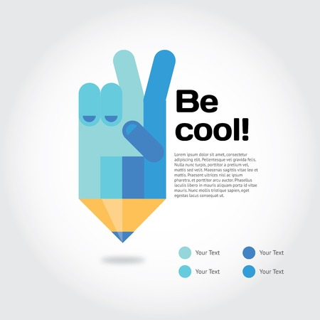 hand school education: Modern vector illustration and stylish design element