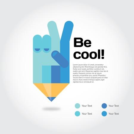 onderwijs: Moderne vector illustratie en stijlvol design element