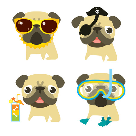 four friends: Modern vector illustration and stylish design element
