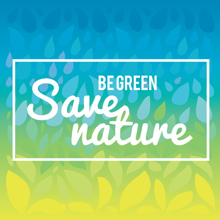 save the planet: Stylish vector illustration and modern design element