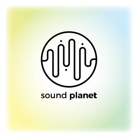 digital music: Vector modern illustration and stylish design element