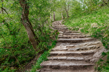 Stairway in Davedale Stock Photo