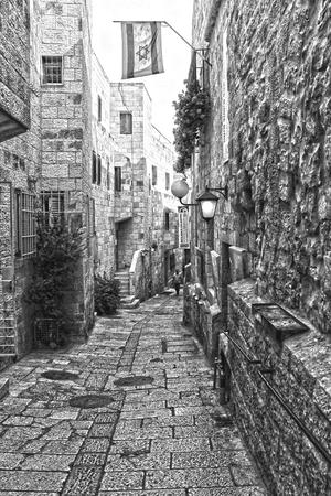 jewish quarter: The Jewish quarter in old Jerusalem