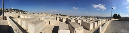 jewish: Jewish Cemetery, Olives month Stock Photo