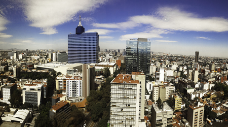 wtc: View of World Trade Center, Mexico City Editorial