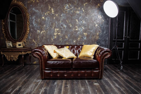 decorating: Dark brown vintage. Stock Photo