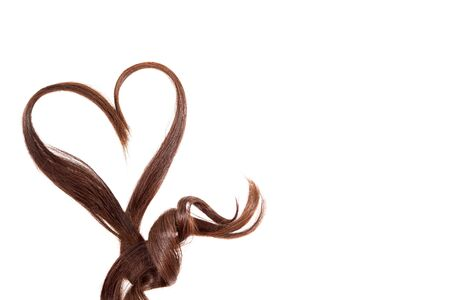 Hair Heart isolated on white