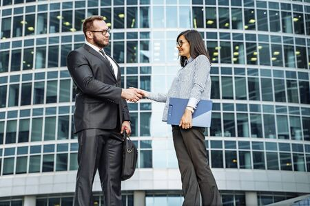 Modern business lifestyle. Handshake business partners. Banco de Imagens