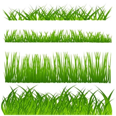 lawn: vector gras set Stock Illustratie