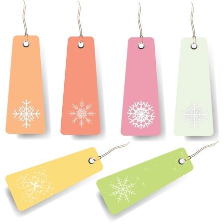 gift shop: pastel color shopping tags set Illustration