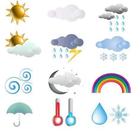 weather icon set  Stock Vector - 10592779