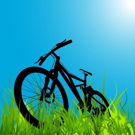 bicycle silhouette: mountain bike