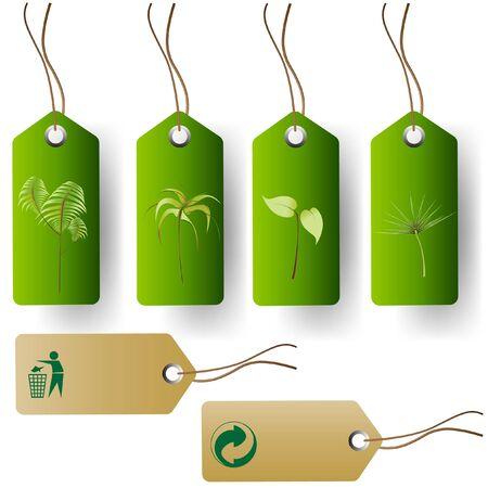 Set von Green Eco Produkt-Tags