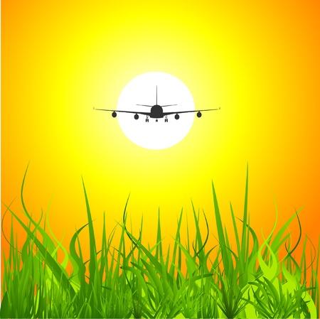 aeronautic: airplane  Illustration