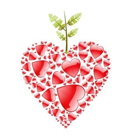 love apple Stock Vector - 10592858