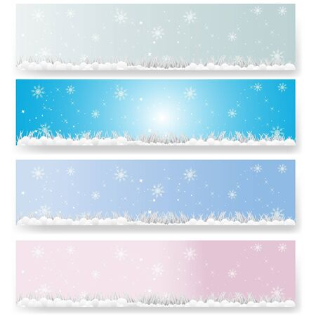 soft winter banners Stock Vector - 10592860