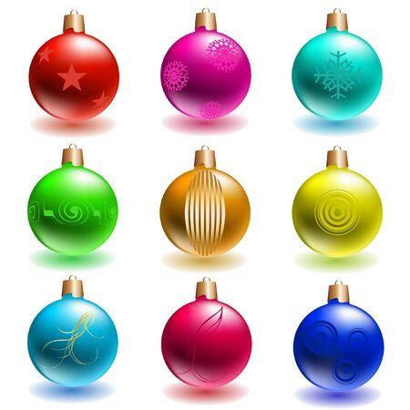 vector christmas ballsset Stock Vector - 10592847
