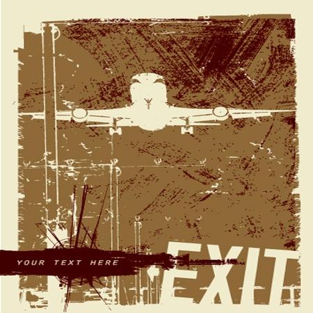 multiple stains: vector grunge background Illustration