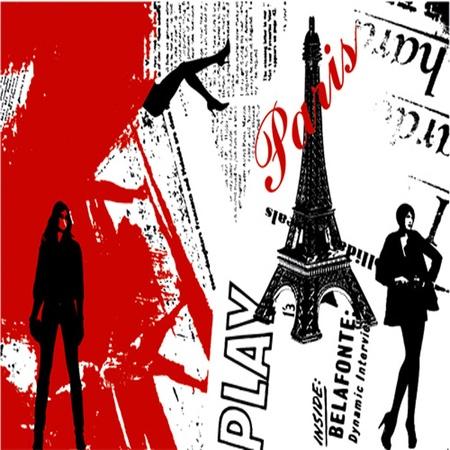 paris france: grunge background