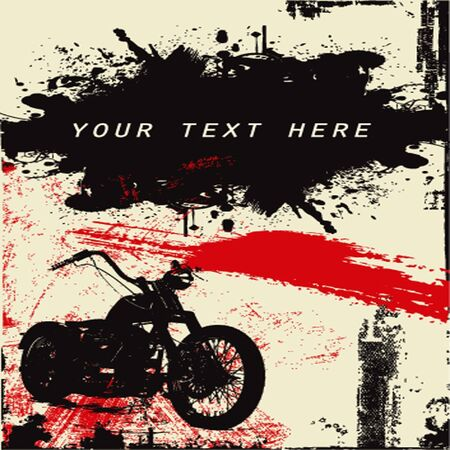 motorbikes: grunge background
