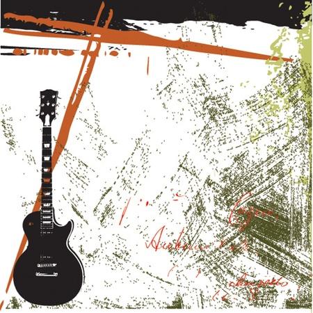 musikalische Grunge-Hintergrund