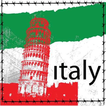 pisa tower from italy Stock Vector - 13236629