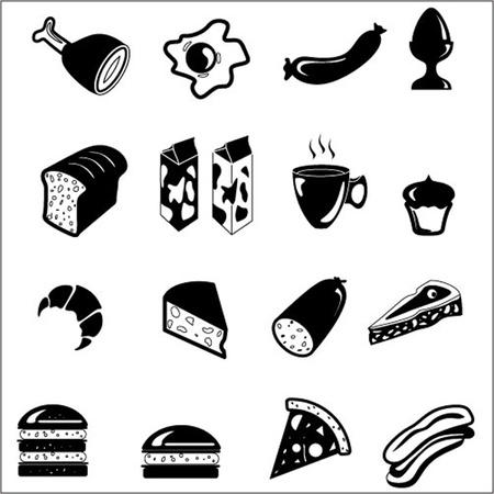dog food: Food icon set Illustration