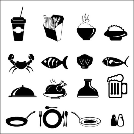 Food icon set Illustration