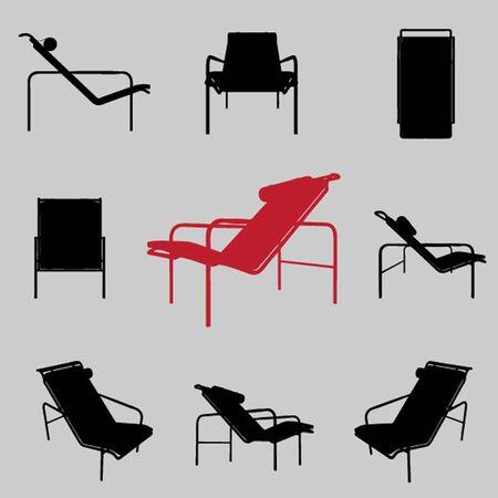 furnishings: vector modern armchair set
