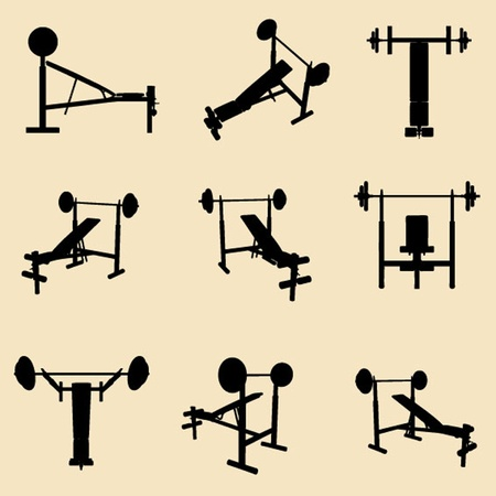 exercise machine: vector gym equipment Illustration