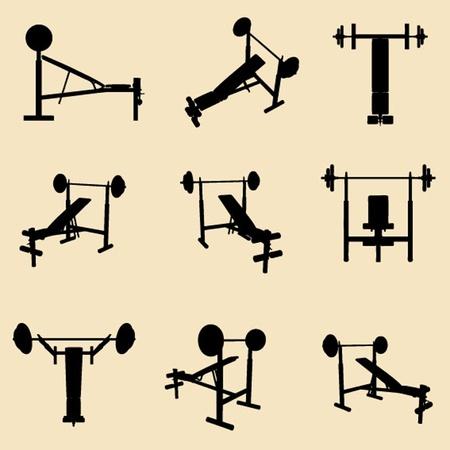 gym equipment: vettore di attrezzature da palestra Vettoriali
