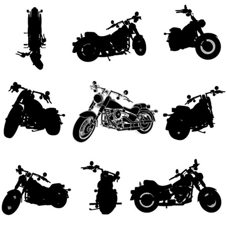 vintage power: chopper motorcycle silhouette  Illustration