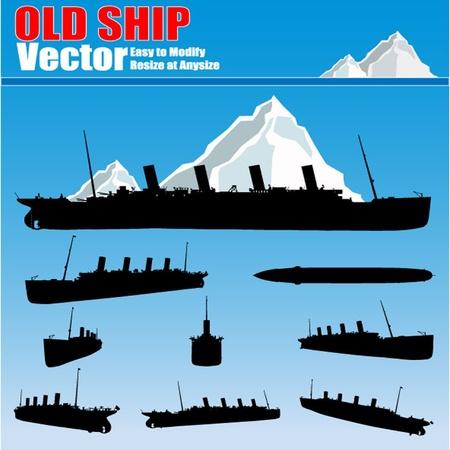 vecchia nave: disegno vettoriale vecchia nave