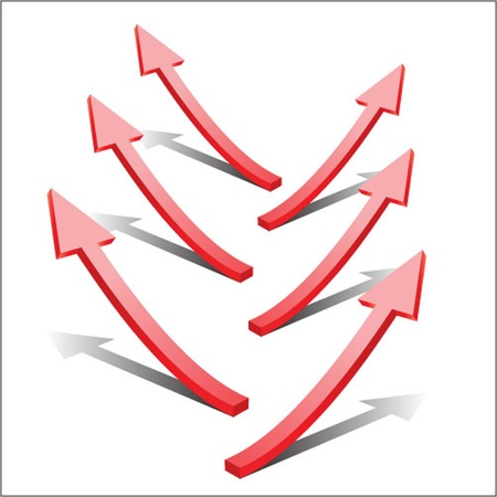 3 point perspective: 3d vector arrows set Illustration