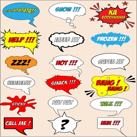 crunch: Speech Bubbles Illustration