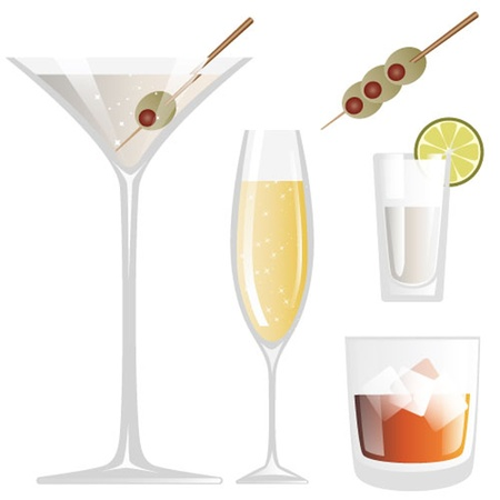 Drink Glass Illustration